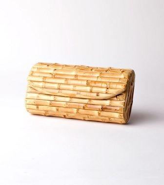 J. McLaughlin bamboo clutch