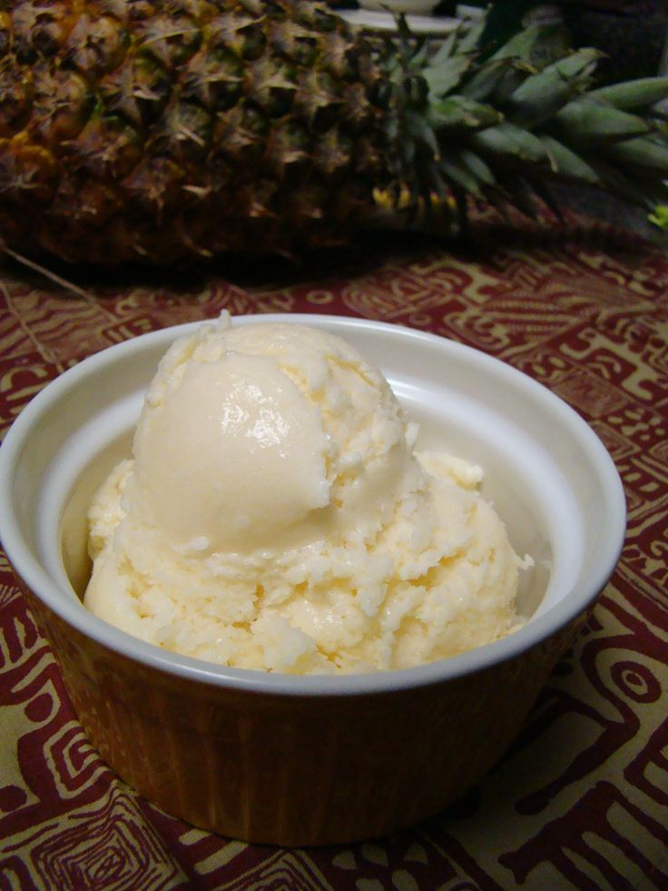 Homemade Dole Whip - ice cream maker recipe (need to 1/2 the recipe in order to fit in my cuisinart ice cream maker, i decreased it by 1/3 originally but it was still too full)