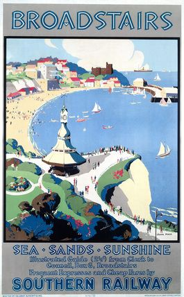 Vintage UK Railway Poster :: Broadstairs :: #vintage #travel #poster