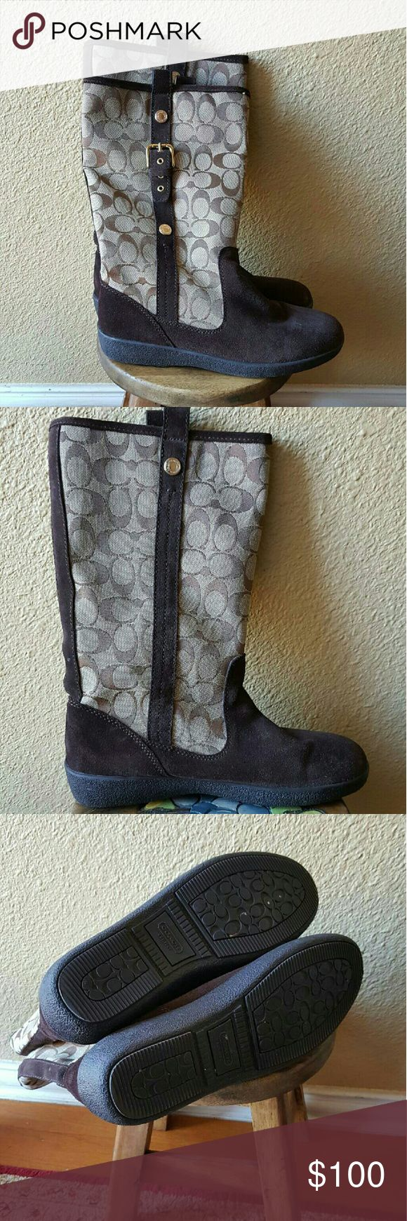 Authentic COACH Boots Authentic COACH Boots. WORN ONCE. Like New. Coach Shoes Winter & Rain Boots