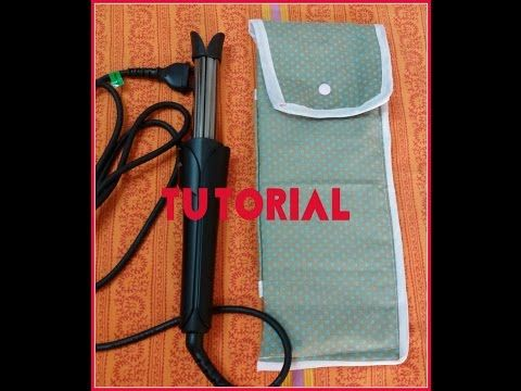 custodia porta piastra -ferro per capelli ( tutorial ) - YouTube