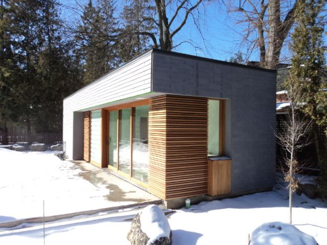 This cool custom home was designed with EQUITONE Fibre Cement in Toronto Ontario.