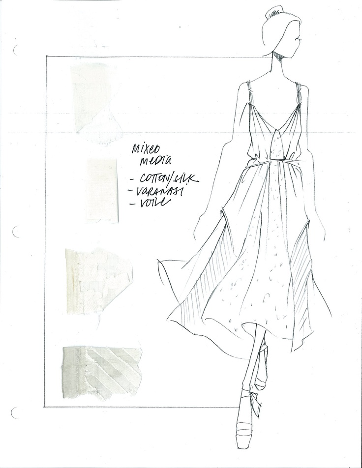 Spring '13 Concept Sketch and Swatches
