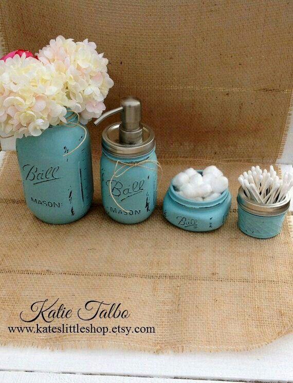 Mason jar bathroom kit