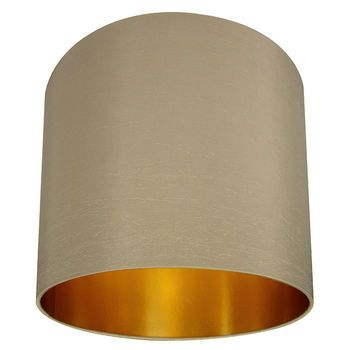 gold lined lampshade in stone by love frankie