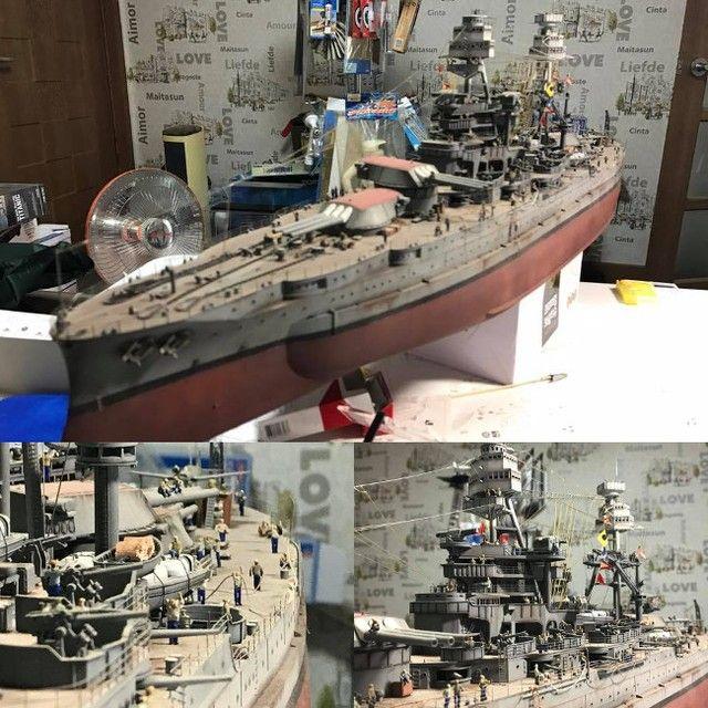 USS Arizona from Caveman battleship modeling #scalemodel #plastimodelismo #miniatura #plastickits #usinadoskits #udk #plasticmodel #plastimodelo #plamodel #battleship #modelism #modelisme #modelismo #hobby #miniatur #maqueta #maquette