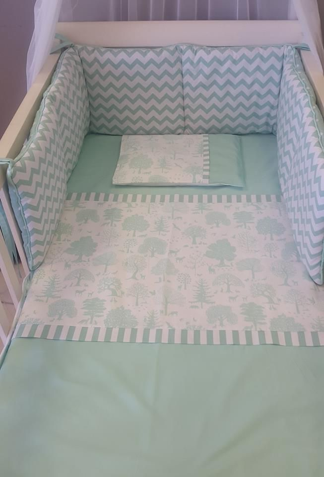 Our #LittleWoodlands fabrics are perfect for a #Mint and #White nursery! Perfect for any #BabyBoy or #BabyGirl that seeks adventure!  #BabyBedding #BabyLinen
