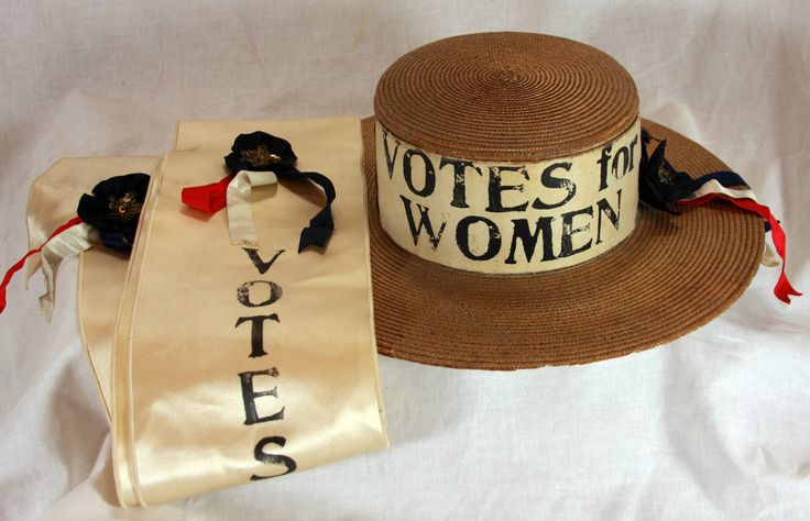 Vintage Women's Suffrage Hat and Sash C1914 | eBay