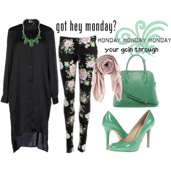 """""""monday is green"""" by mizzemonita on Polyvore"""