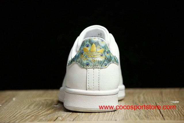 Adidas Stan Smith Peacock tail CP9564 White Gold Womens