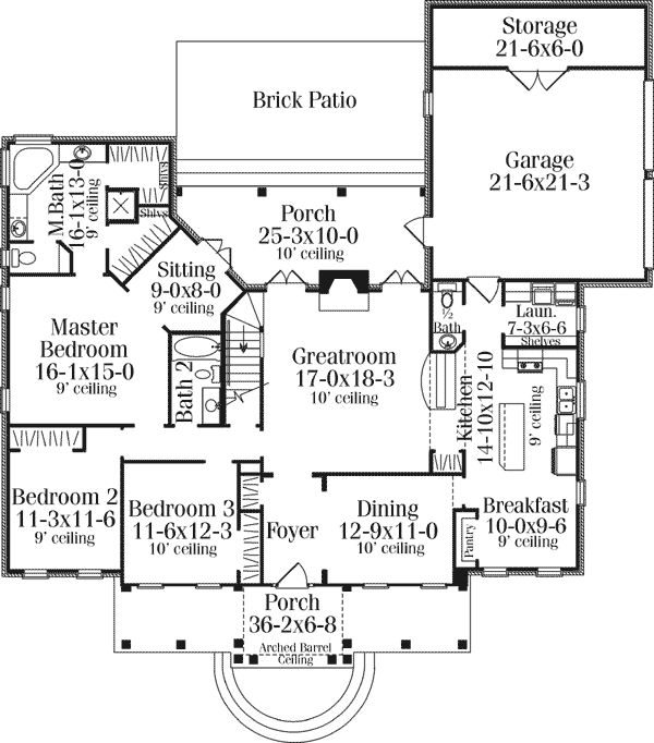 65 best house plans images on pinterest cottage country for Southern colonial floor plans