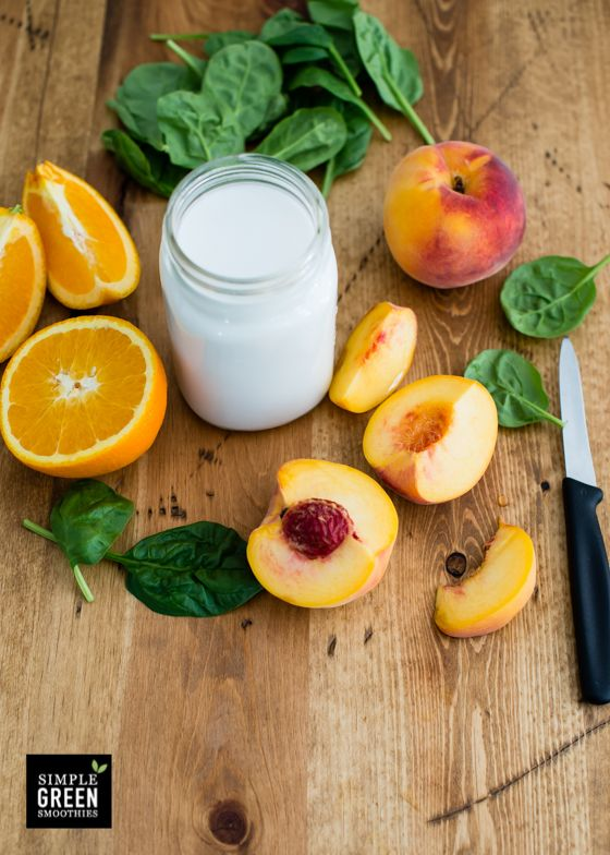 Sometimes the simplest green smoothies are the best, and truly most of our smoothies fall under that category. This one is one of the simplest though— just four ingredients! When peach season hits, it's hard to not want to put them or on everything. I love the way they sweeten up my smoothies. I freeze …