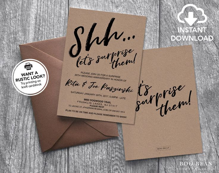 Surprise Wedding Anniversary Invitations: Best 25+ Anniversary Surprise Ideas On Pinterest
