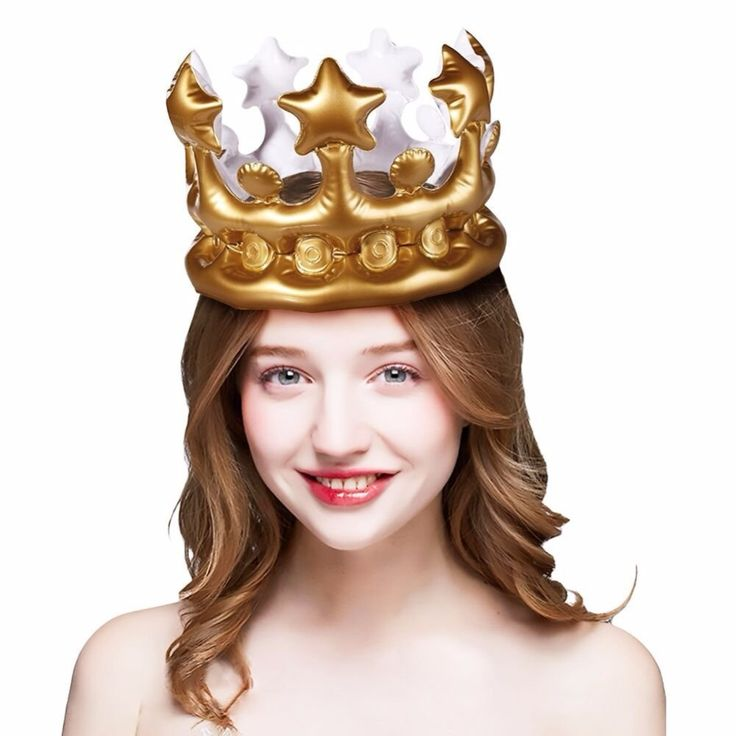 CCINEE 1PCs Inflatable Crown Kids Birthday Party Hats Thicken PVC Inflated Cosplay Tools Stage Props Best Gift For Boys Girls #Affiliate