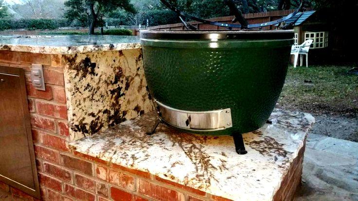 Delicatus White Granite - Outdoor Kitchen - Barbecue - Green Egg - Home Decor - Countertops - Remodel