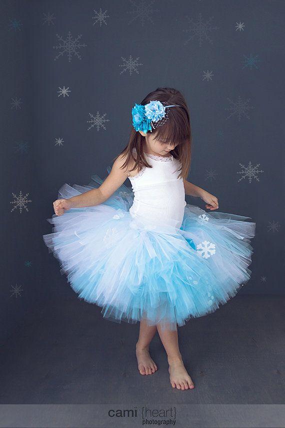 Frozen Tutu, Princess Elsa, Snow Princess, Frozen Costume, Frozen Party, Winter Wonderland Tutu, Blue and White Tutu, Disney Frozen on Etsy, $35.00