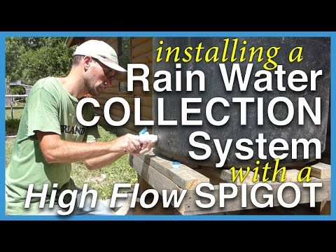 Rainwater Collection Tank with High Flow Water Spigot - YouTube