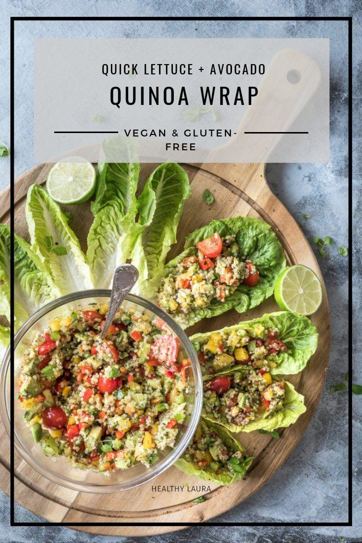 Quinoa Wrap Lettuce Avocado Vegan Gluten Free Healthy Laura Gluten Free Wraps Quinoa Wrap Avocado Recipes