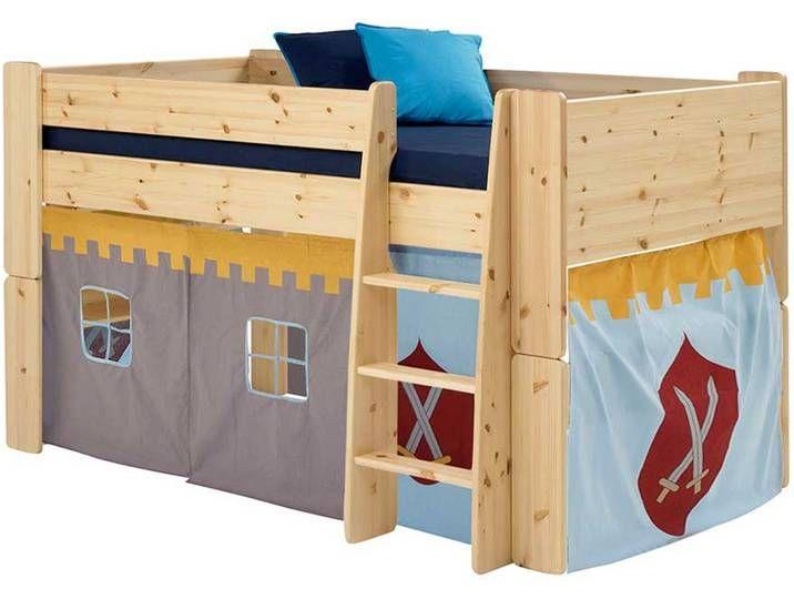 Burg Hochbett Aus Kiefer Massivholz Halbhoch 2 Teilig Toy Chest Decor Home Decor