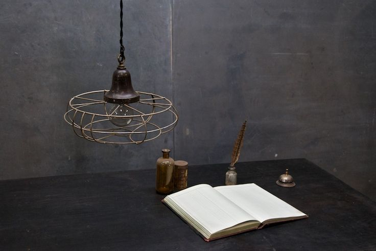 Pendant Lighting For Retail : Large industrial cage pendant lights th century