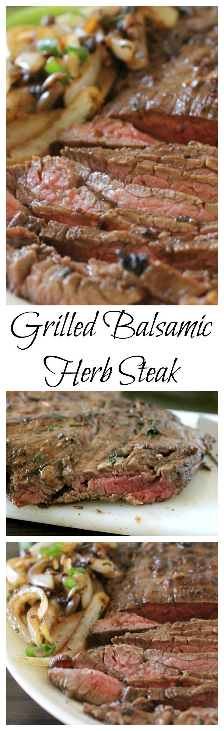 Grilled Balsamic Herb Steak - this recipe is perfect for outdoor entertaining, BBQ goodness at its best. - by Mama Maggie's Kitchen