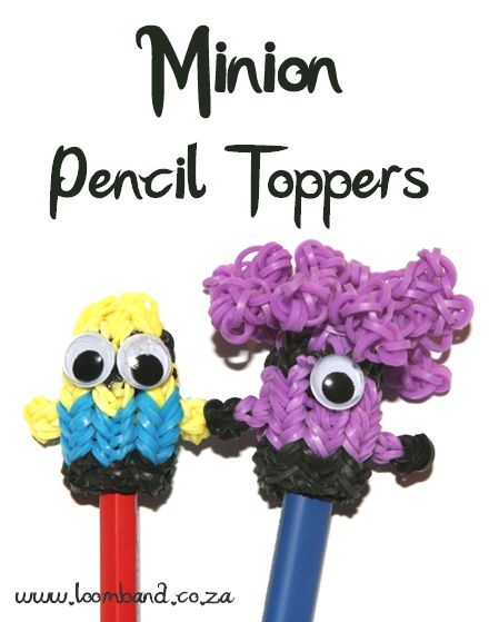 Minion Loom band Pencil topper tutorial, instructions and videos on hundreds of loom band designs. Shop online for all your looming supplies, delivery anywhere in SA.