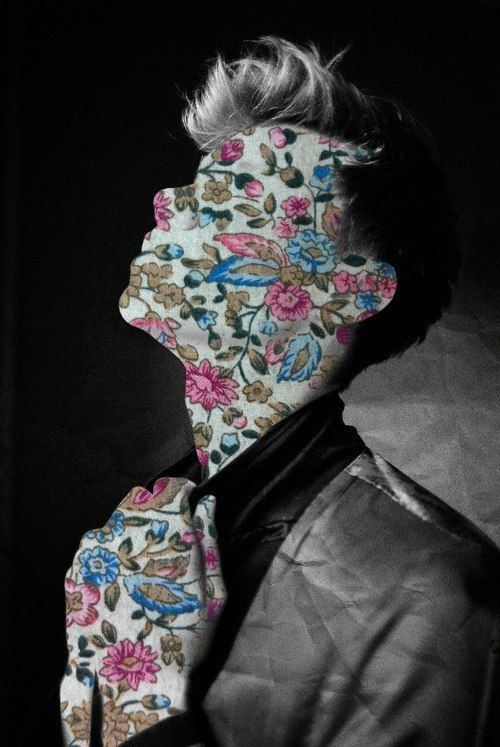 montage photography print art floral model portrait fashion photoshop -flower face collage man