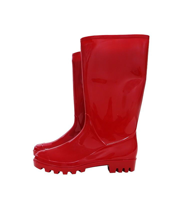 Red rubber rain (and snow) boot. $39.00 Shoes by Lara 703-416-4162