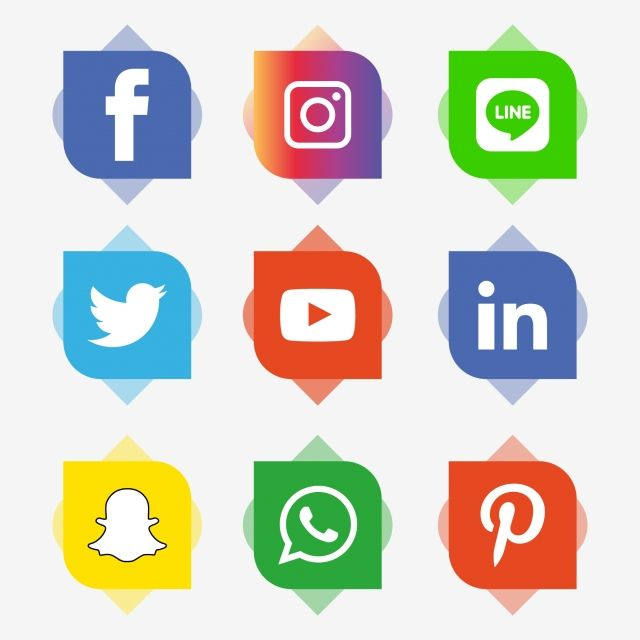 Social Media Icons Set Logo Vector Illustrator Social Media Clipart Social Icons Logo Icons Png And Vector With Transparent Background For Free Download Social Media Icons Social Icons Media Icon