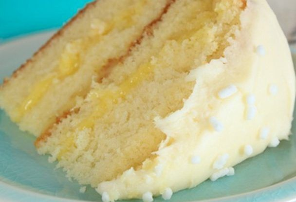 Lemon Cake With Lemon Filling And Lemon Butter Frosting Desserts