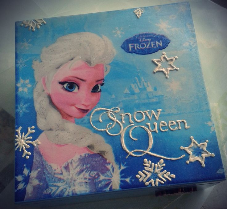 decoupage Elsa box