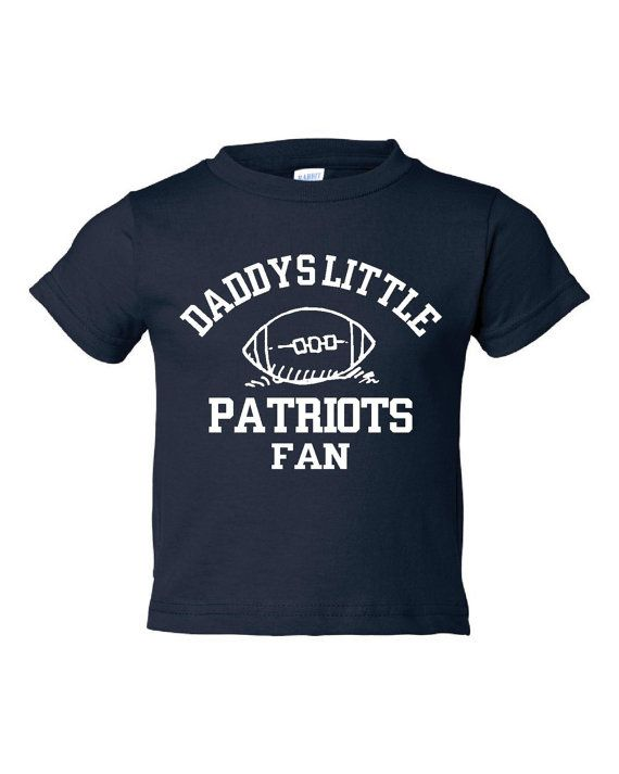 Adorable Daddy's Little Patriots Fan T-shirt. Patriots Fan shirt available in infant, toddler & child! Great gift for any occasion