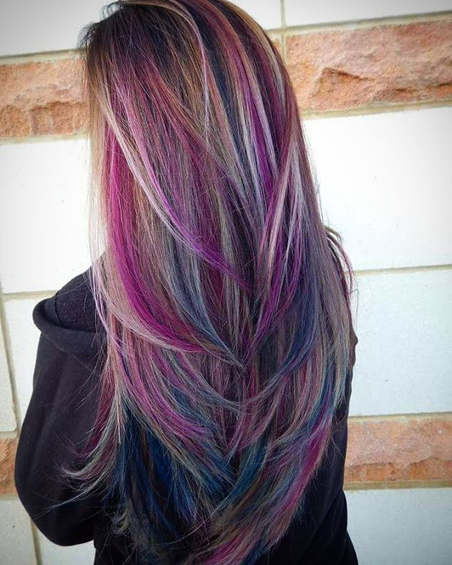 1000 Ideas About Colored Highlights On Pinterest