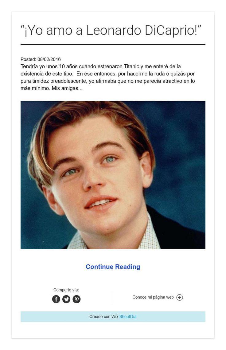 """""""¡Yo amo a Leonardo DiCaprio!"""""""