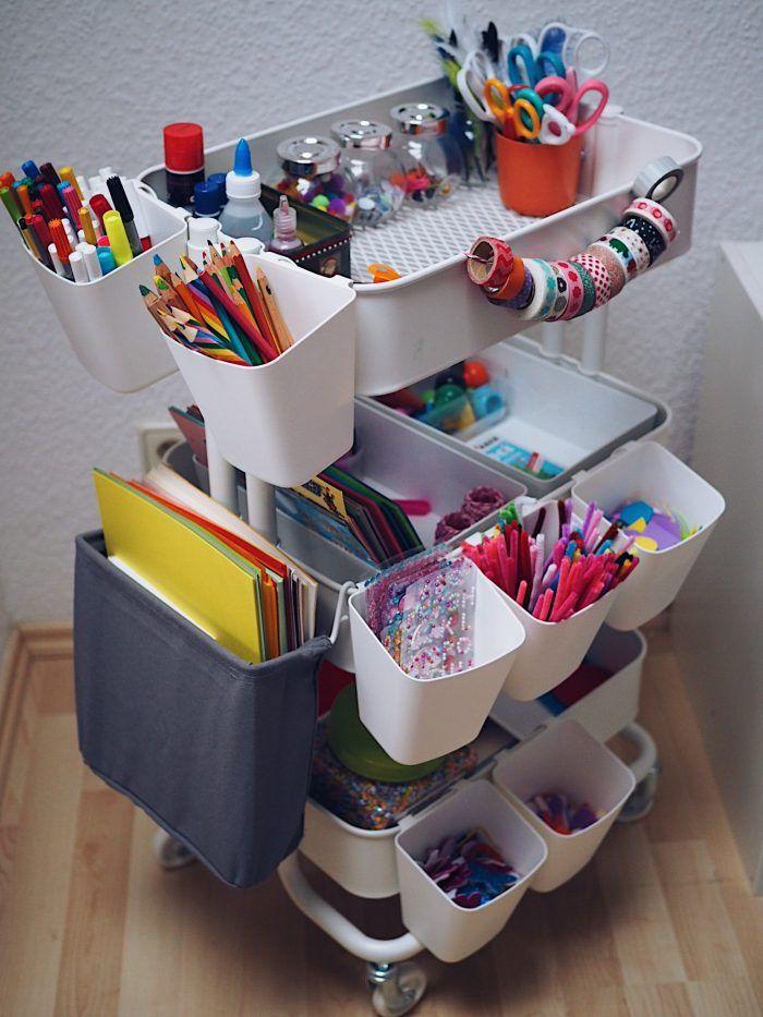 Jetzt wird's ordentlich im Kinderzimmer: Unser Bastelwagen | Marry Kotter – Luzaevamelissa Zimmernink