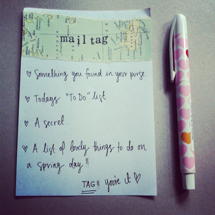 Mail tag ideas!