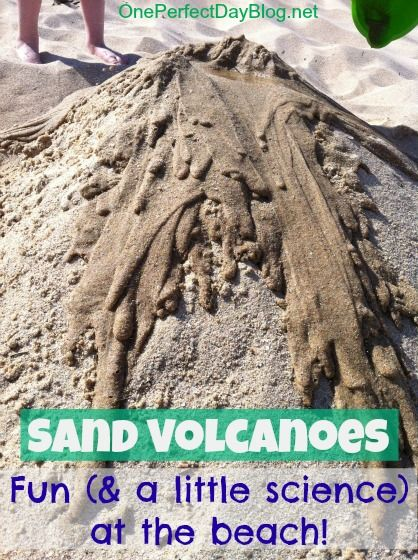 Sand volcanoes fun beach activity