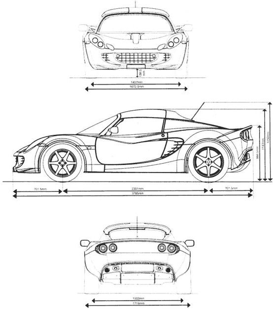 82 best car plans images on pinterest cars technical drawings and car blueprint malvernweather Image collections
