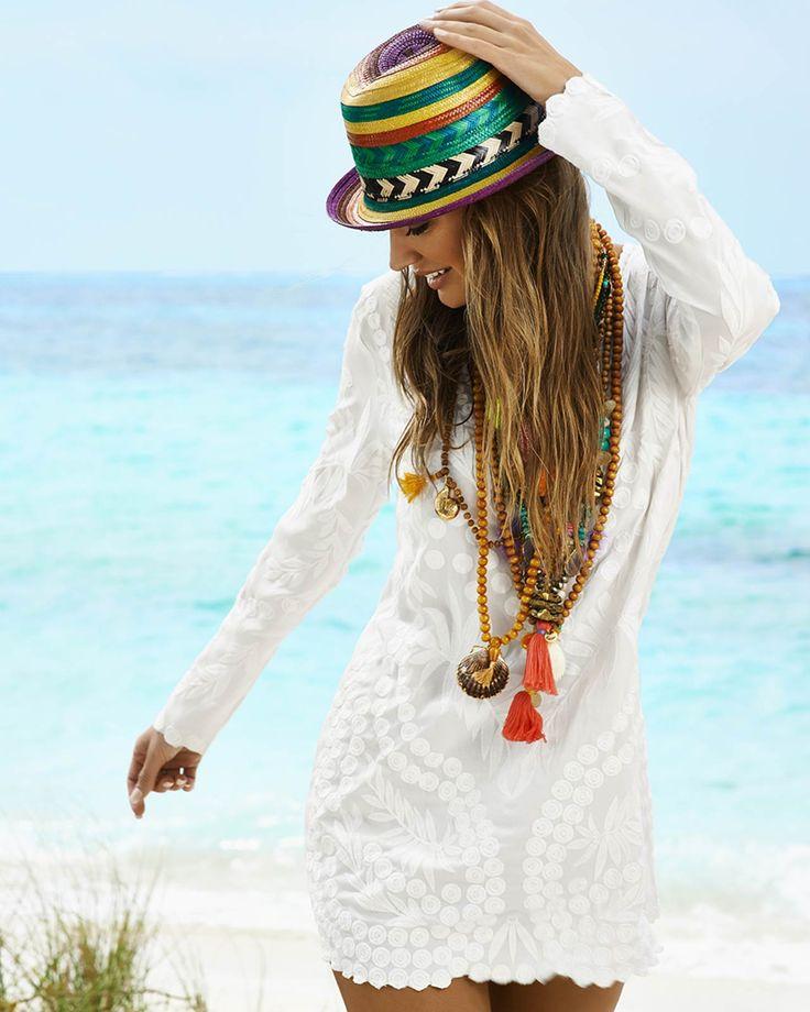 PILYQ 2015 'Ora Jane' tunic | Kayokoko Swimwear $144 #pilyq #tunic #coverup #bohemian #crochet #resortwear #trendy #designer