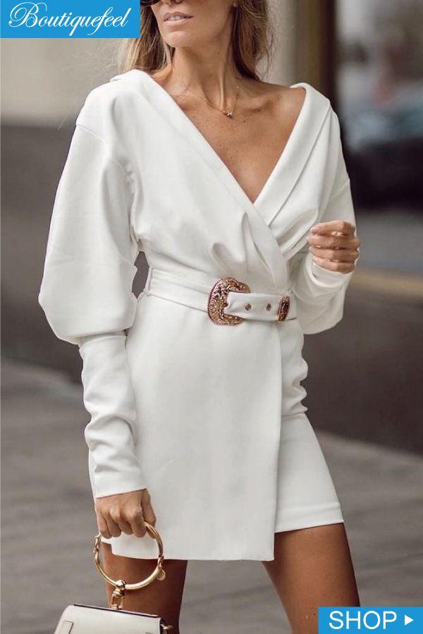 Emma White Stickerei Kleid
