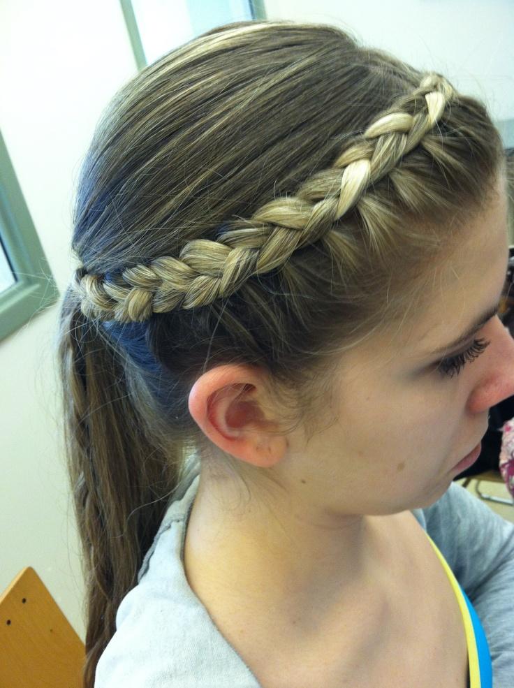 inverted braid hairstyle | Hair styles | Pinterest ...