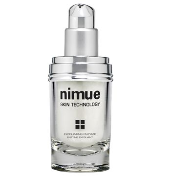 :: Nimue Skin Technology ::  Exfoliating Enzyme  A combination of Papaya and Pineapple enzymes in a non abrasive gel base detach dead skin cells gently and promote cell renewal.  Non-irritating enzymatic exfoliation. Refines skin texture and imparts smooth and radiant skin. Optimises penetration of active ingredients.