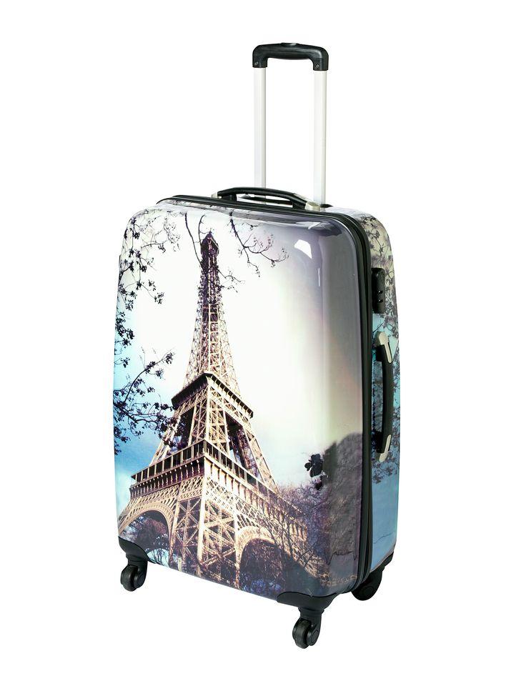 Eiffel Tower Hardshell Large Case   Suitcases   ASDA direct