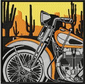 Moto Retro Label machine embroidery design. Machine embroidery design. www.embroideres.com