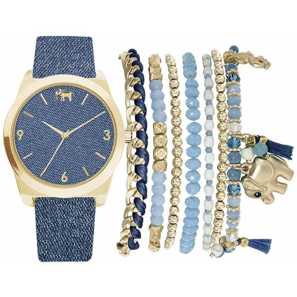 Mixit Womens Blue 9-pc. Watch Boxed Set-Jc2155g569-032 (533.000 IDR) ❤ liked on Polyvore featuring jewelry, watches, bracelets, accessories, relógio, blue jewelry, blue jewellery, mixit, blue watches and mixit jewelry