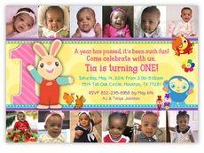 BabyFirstTV TV Favorites Birthday Party YEAR IN PHOTOS Invitation For Girls