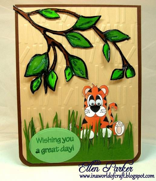 OWH Virtual Card Making Party Jungle Animals
