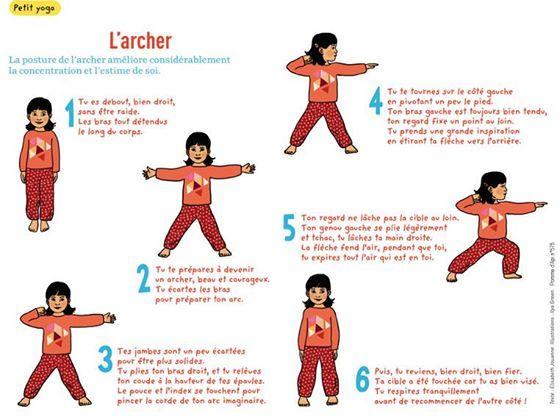 yoga des petits - L'archer