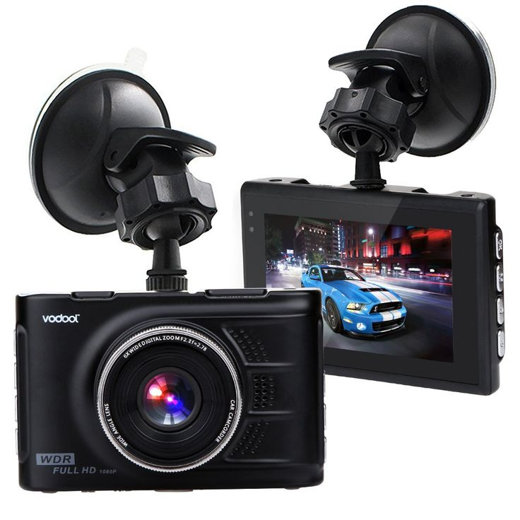 "Vodool 3"" Screen Full HD 1080 Car Dash Cam, Car DVR Dashboard Camera Car Vehicle Camera with G-Sensor ,Loop Recording ,WDR, Night Vision,Support with 32G TF Card. Superior Resolution: Built in 1080P Full HD video and image, 3-inch large LTPS LCD screen, clear and bright. 140 Degreeultra wide viewing angle lens, allows you to capture more when driving. Automatic boot whenever the vehicle's ignition is on, supports loop recording--- the newest video continuously replacing the oldest video...."