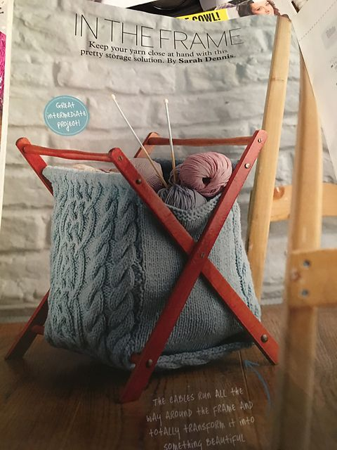 Ravelry: In The Frame Storage Bag pattern by Sarah Dennis